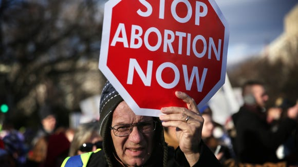 A pro-life activist participates in the annual March
