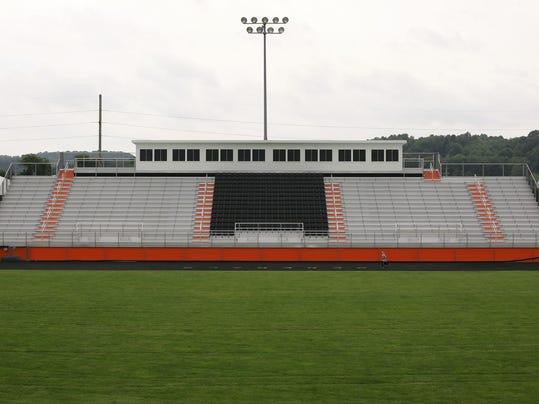 construction at Ridgewood High School stadium