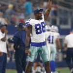 Dallas Cowboys wide receiver Dez Bryant (88) celebrates a touchdown in the third quarter against the Miami Dolphins at AT&T Stadium. Dallas won 41-14.