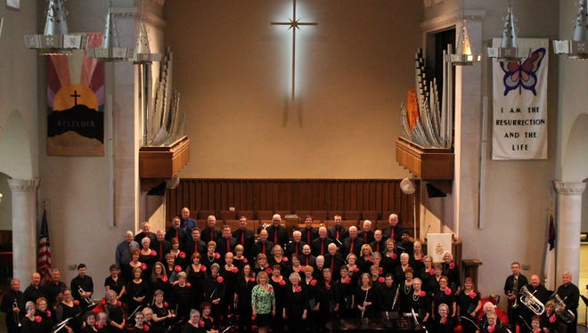 """The combined choirs of Bravo! and Encore! performed last year with composer Patti Drennan. In March the choirs, along with other singers from the community and a chamber orchestra, will perform """"Requiem for the Living,"""" music that sends a message of hope and peace through faith. Although the entire piece is in Latin, an understanding of the language is not necessary to grasp it's spiritual and healing power."""
