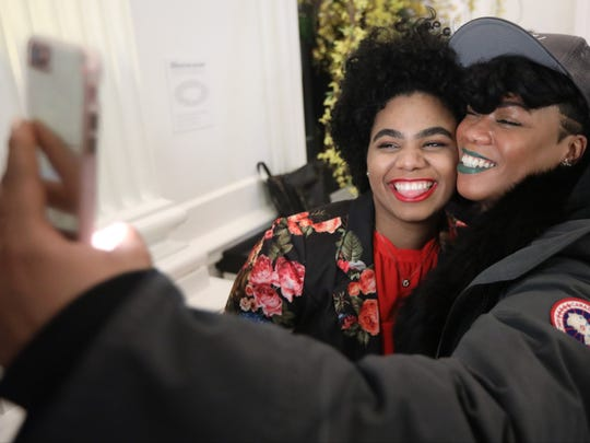 Wé McDonald is shown with Gloria Ryann, after they performed at Joe's Pub, in New York City, Saturday, April 7, 2018. Ryann is one of McDonald's backup singers.
