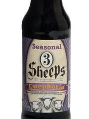 Ewephoria, a ginger-chocolate stout made by 3 Sheeps