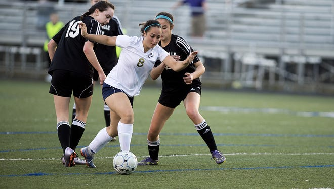 Sarah Shearer (8) had an assist for Roberson in Wednesday's 1-0 home win over Asheville High.