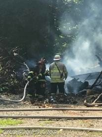 Croton firefighters wrestled with a brush fire in Croton Point Park for about four hours.