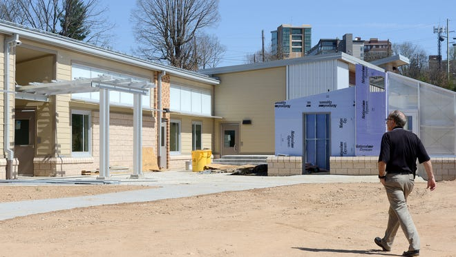 The new Isaac Dickson Elementary School, due to open in August, is shown under construction in this March photo.
