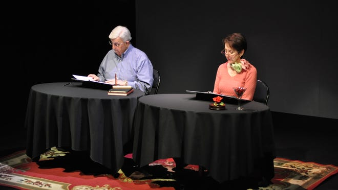"David (left) and Norrine (right) Caplan rehearse for the City Park Players production of ""Love Letters,"" which will alternate between four casts. The Caplans, Vince and Connie Mallory, Karen Simmons, Daniel Williams, Frances Yaeger and Mike Davis will each perform two shows of the eight shows."