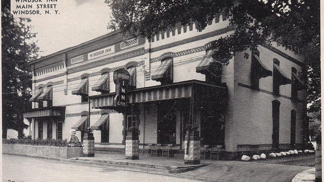 A photo from the 1940s shows the Windsor Inn on Main Street in the village.