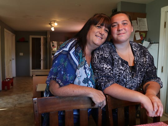 Laurie Polatas and her daughter Michelle, 23, in their home.  Laurie Polatas went to an extreme measure to try and save her daughter from drug addiction.