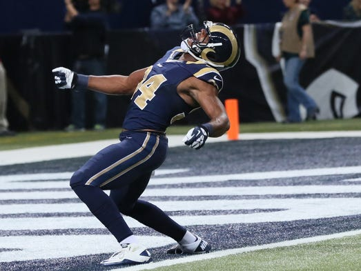 ROBERT QUINN: Rams defensive end Robert Quinn leads the NFC with 10 sacks and has a record five in his last three games. He's already forced a career-high four fumbles this season.