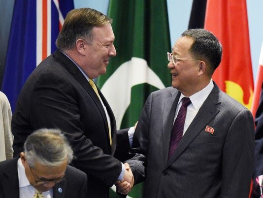 Pompeo,Ri meet in Singapore