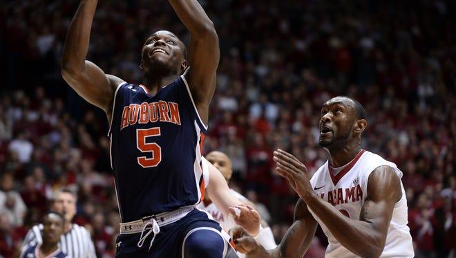 Auburn basketball vs Alabama at Coleman Coliseum on Saturday, Feb. 4, 2017, in Tuscaloosa, Ala.