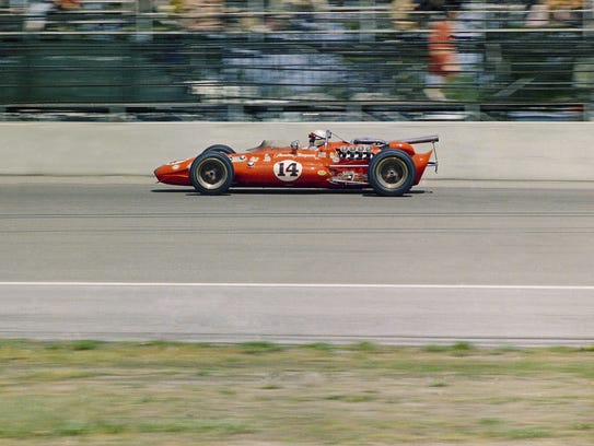 Driver is A.J. Foyt driving a Sheraton Thompson Special