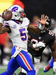Buffalo Bills quarterback Tyrod Taylor has thrown only