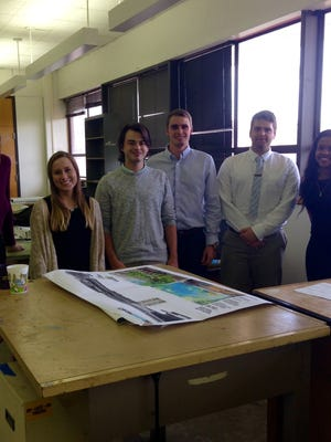 Seniors in the Robert Reich School of Landscape Architecture at LSU in Baton Rouge on Wednesday share what's on their minds as they prepare to graduate. From left are Brooke Storey, Elizabeth Boudreaux, Wes Gentry, Eric Thomas, Ace Martin and Alex Judie.