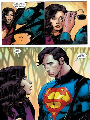 "Lois Lane gets physical evidence of Clark Kent's heroic side for the first time in the new issue of ""Superman."""