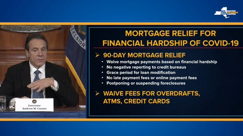 Gov. Andrew Cuomo announced steps Thursday, March 19, 2020, to help people with their mortgage payments.