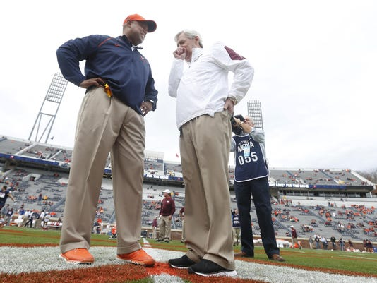 Frank Beamer, Mike London