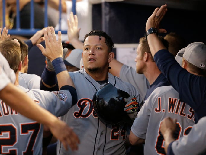 Tigers designated hitter Miguel Cabrera returns to