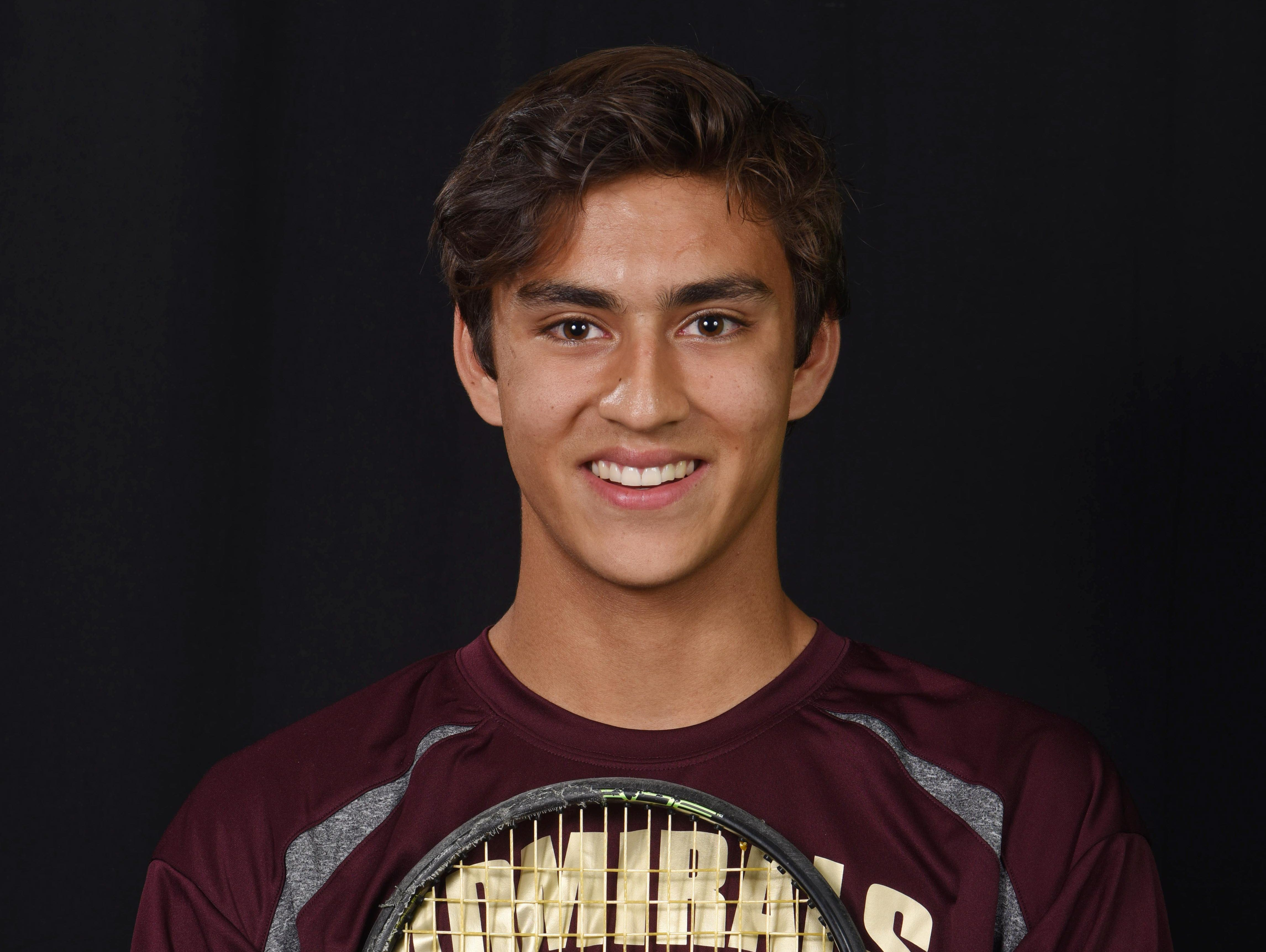 Arlington High School's Jake Bhangdia was named Poughkeepsie Journal's Tennis Player of the Year.