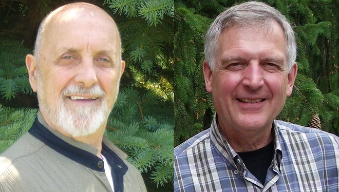 Candidates for 4th District Livingston County Commissioner Dennis Andrzyczak, a Democrat, and Doug Helzerman, a Republican