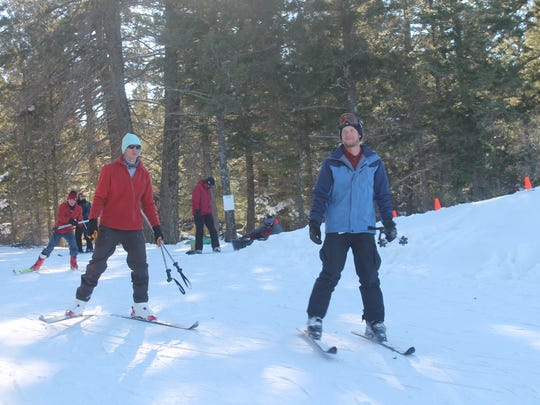 Instructors at Ski Cloudcroft use their break to ski the trails on Wednesday afternoon.