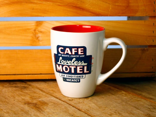 All over Nashville: Before it was a biscuit-lover's go-to, the Loveless was actually a rest stop for weary road warriors. Motel sign mug, $12, Loveless Cafe, 8400 Tennessee Highway 100, lovelesscafe.com.