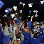 Students traditionally toss their hats at the end of graduation ceremonies. Reunions are equally as traditional.