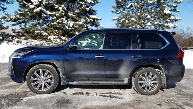 The Lexus LX 570 is a sport utility vehicle that is loaded with luxury options.