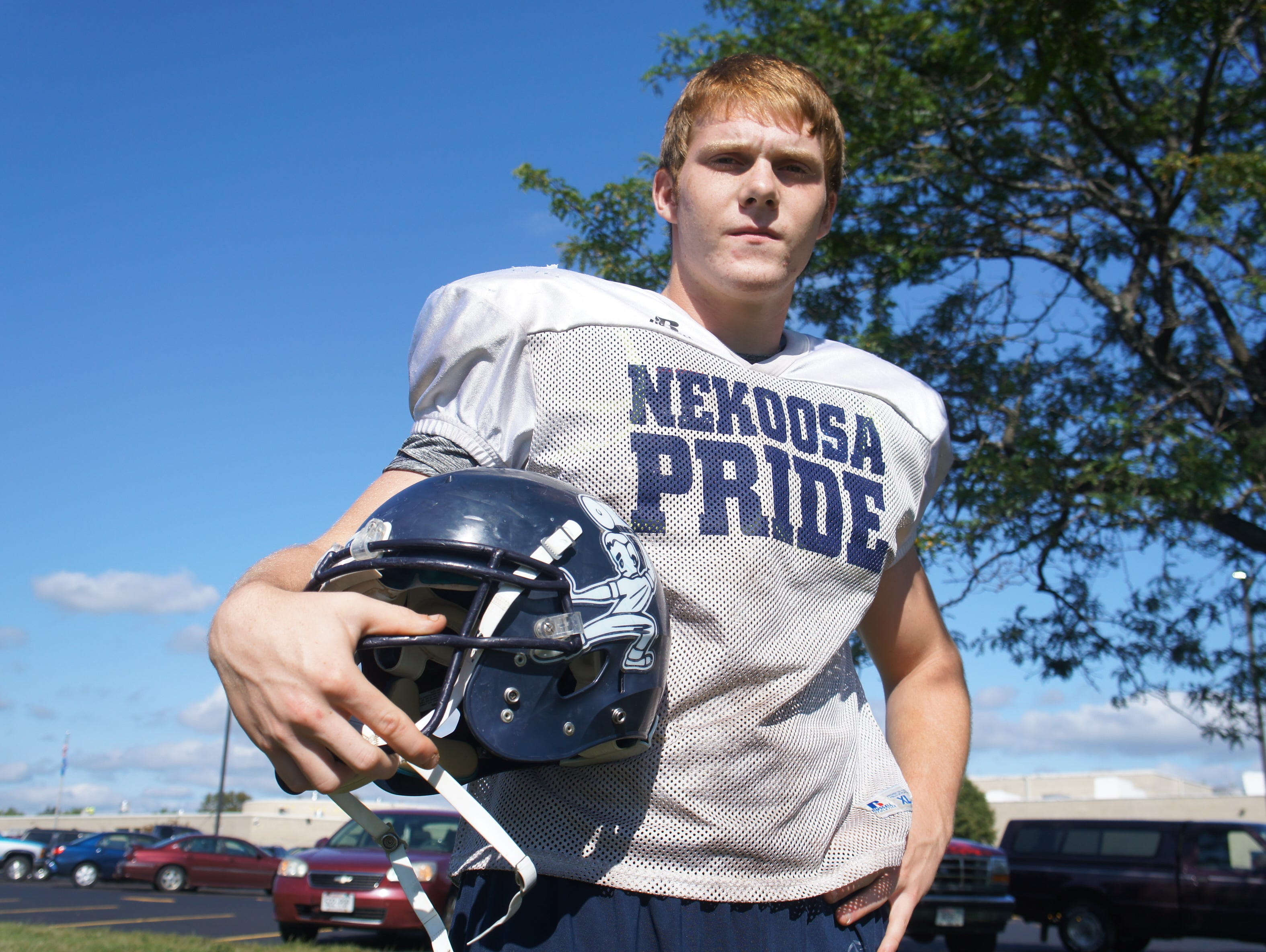 Nekoosa senior Andrew Melvin has started on the offensive and defensive lines since his sophomore year. He is one of four captions this season.