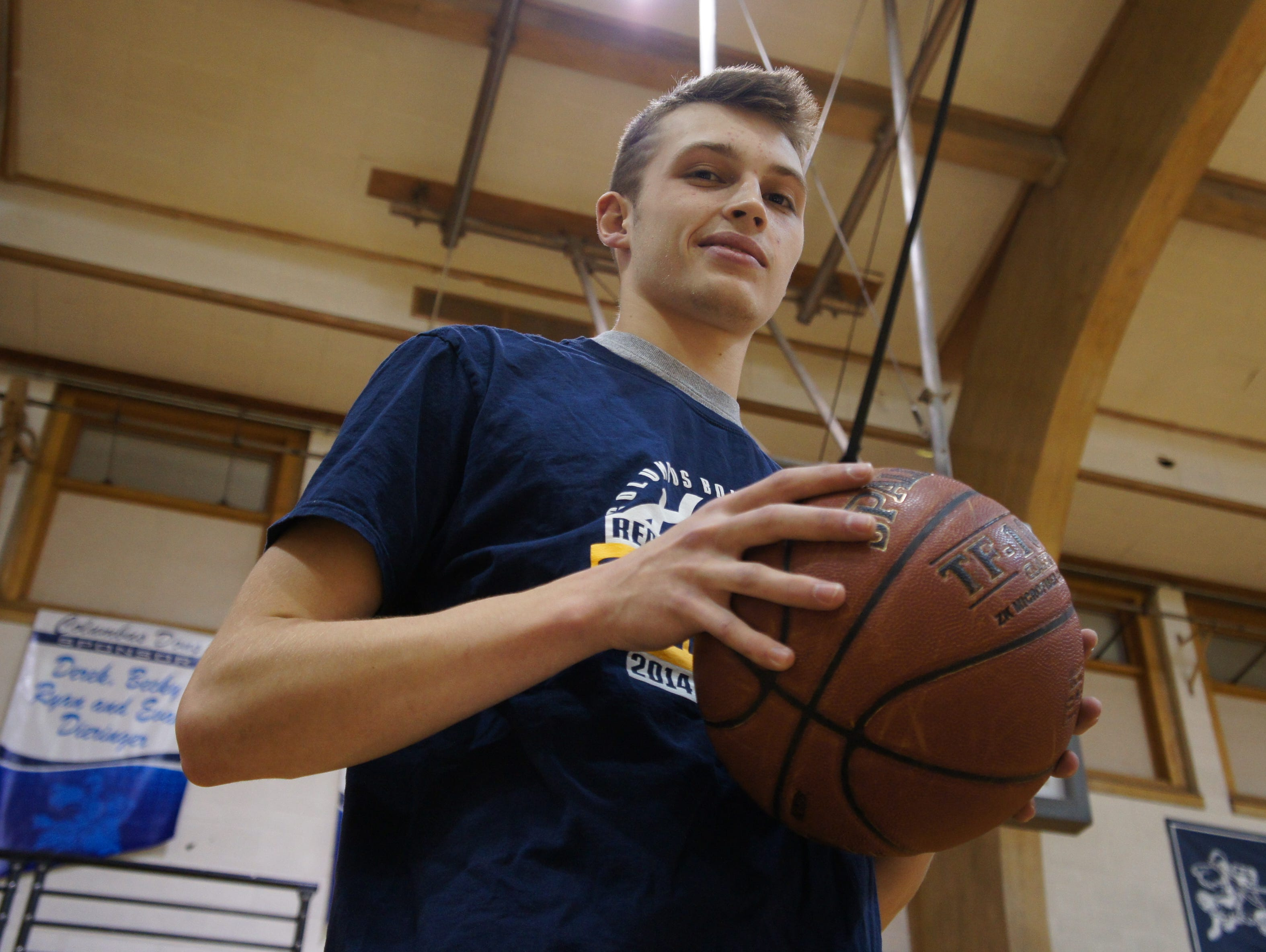 Columbus Catholic senior Evan Nikolai was has been on the Dons varsity basketball team since his freshman year. He helped the team score 101 points in a win last Friday.