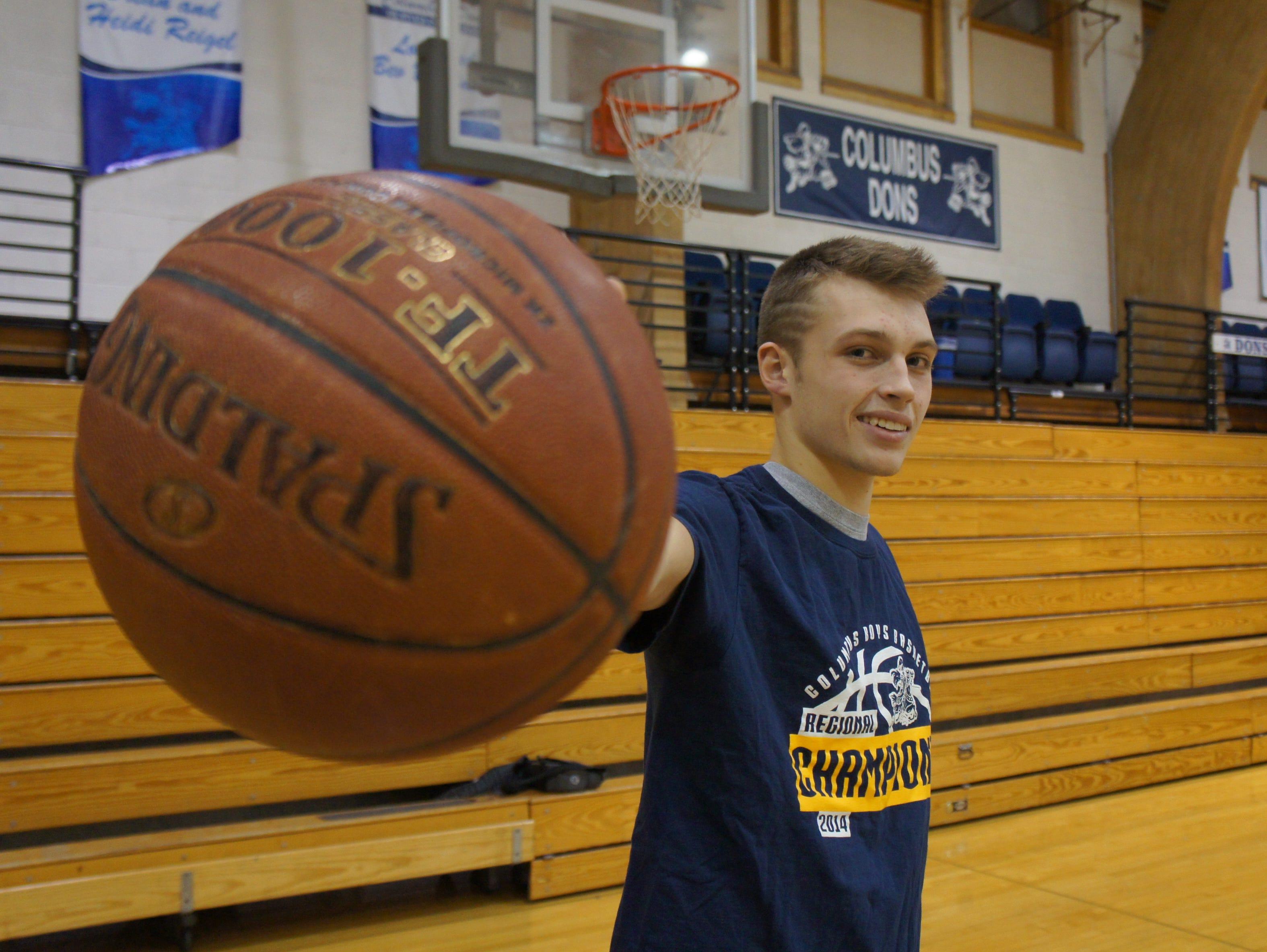 Columbus Catholic senior Evan Nikolai was a big part of the Dons 101-85 win over University School last Friday.