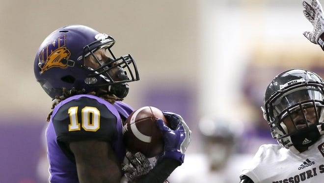 Former Northern Iowa standout Daurice Fountain is just the fourth Panthers wide receiver ever drafted and first since 2001.