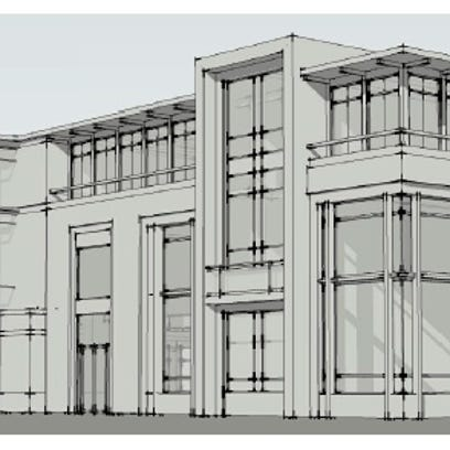 Christa Construction has proposed a mixed-use office