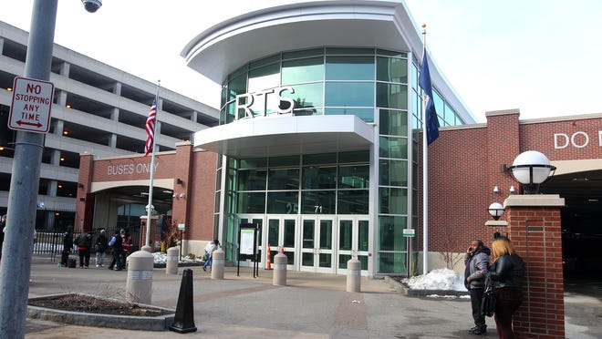 The RTS Transit Center in downtown Rochester.