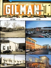 Before and after photos of the Gilman District in Berkeley,