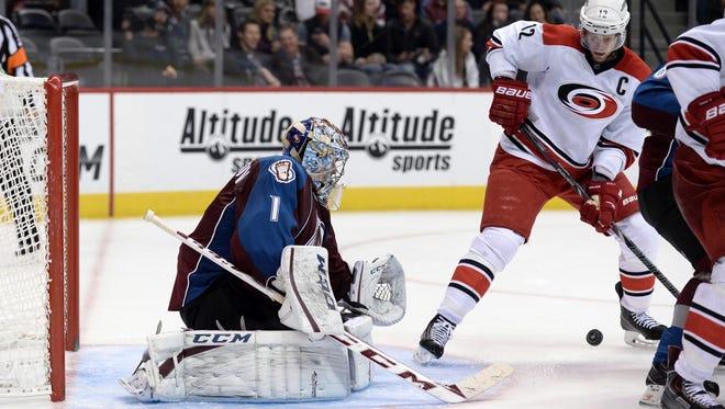 Colorado Avalanche goalie Semyon Varlamov has 26 wins already this season, tying his career bst.