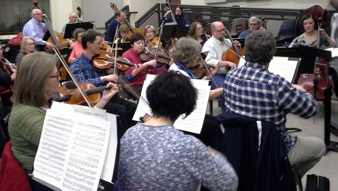 """Members of the International Symphony Orchestra rehearse Tuesday for their current program, """" Creatures, Legends & Myths."""""""