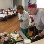 Friends and family of Julio Sbrana gathered at Baker Place Senior Living on March 9 to celebrate his 100th birthday. This occasion was even more special because Julio celebrated with his wife of more than 75 years, Clara Sbrana, who celebrated her 100th birthday in December.