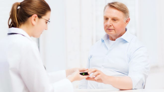 Symptoms such as double or blurry vision, anxiety, shaking or trembling may indicate hypoglycemia. A test to measure your blood sugar value is recommended.