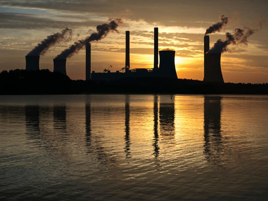 The coal-fired Plant Scherer, one of the nation's top carbon dioxide emitters, in Juliette, Ga.