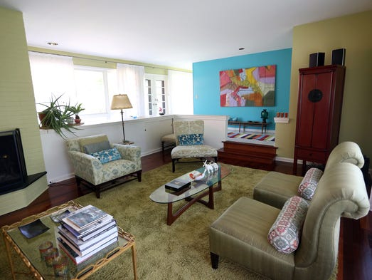 The living room in the Louisville home of Teresa and Jorge Lanz. May 7, 2014. cjlivingroom2014