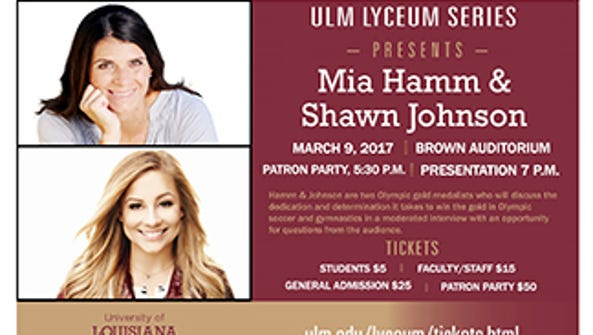 ULM Lyceum Series featuring  soccer player, Mia Hamm