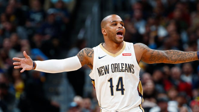 Jameer Nelson on Nov. 17, 2017 with the Pelicans.