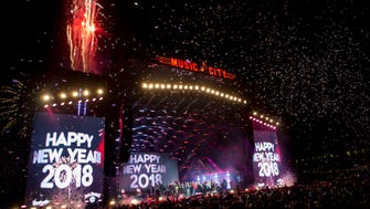 Fireworks explode at the stroke of midnight during the Jack Daniel's Music City Midnight: New Year's Eve bash at Bicentennial Capitol Mall State Park in Nashville on Sunday, Jan. 1, 2018.