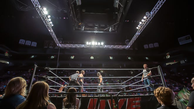 A scene from the Civic Center in Tallahassee, Florida, for the WWE Live SummerSlam Heatwave Tour on July 19, 2014.