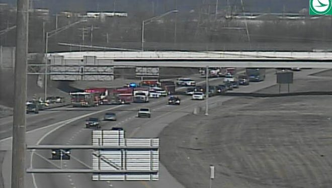 One person was transported to the hospital after a crash on SB I-75 near I-275 Saturday afternoon.