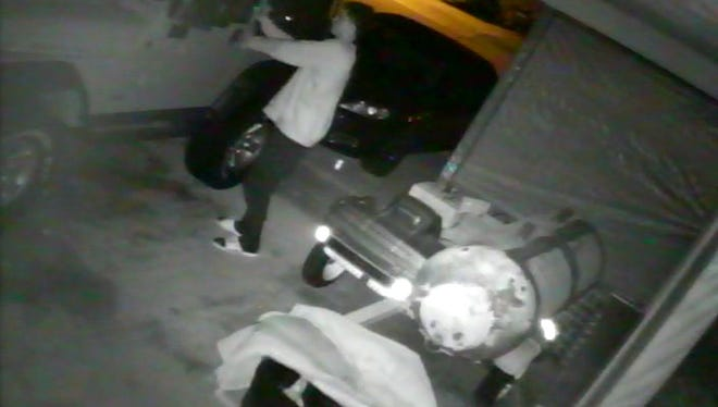 Car burglary suspect caught on video surveillance in cape Coral.