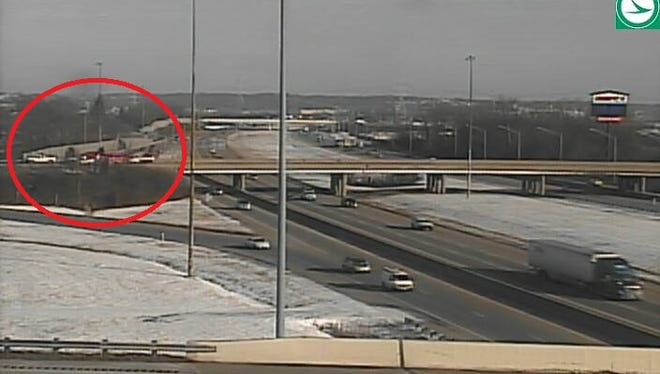 Crash on ramp from I-75 to I-275 in Sharonville