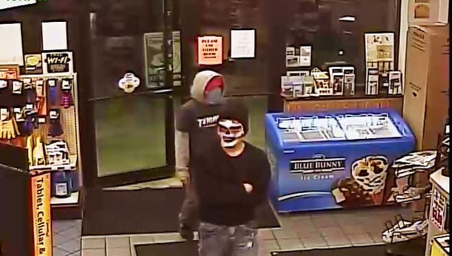 Armed robbery suspects at Cubby's, 3420 N. Cliff Avenue on April 17, 2016.