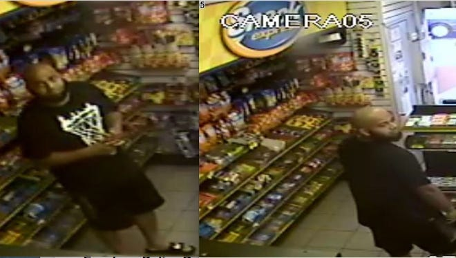 Police say this man stole cash from a gas station register in Evesham.